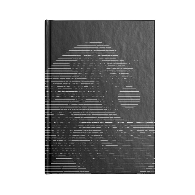 The Great Wave in Stripes Accessories Lined Journal Notebook by nicebleed