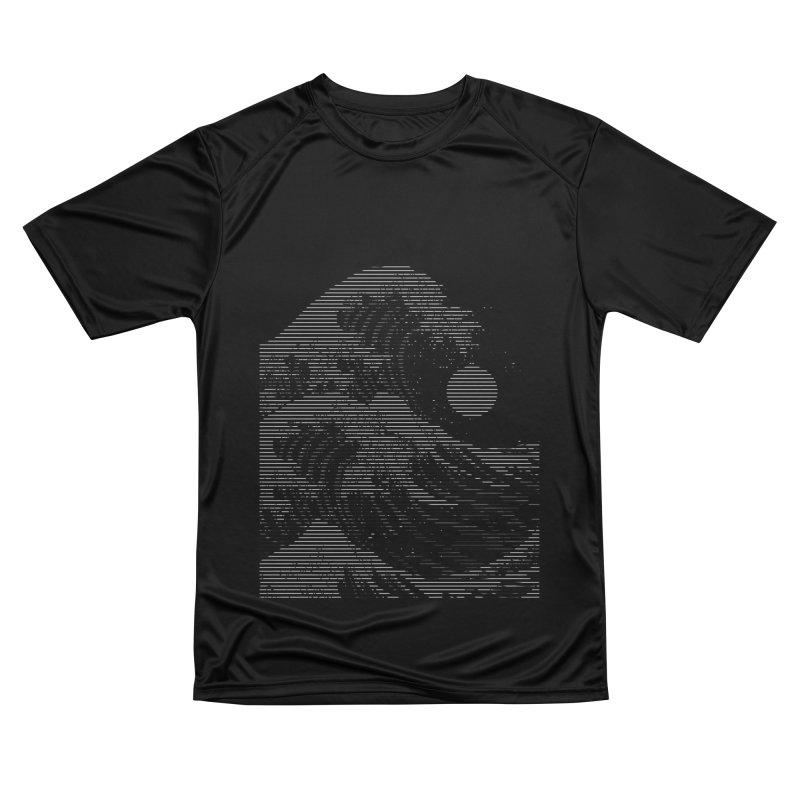 The Great Wave in Stripes Men's Performance T-Shirt by nicebleed