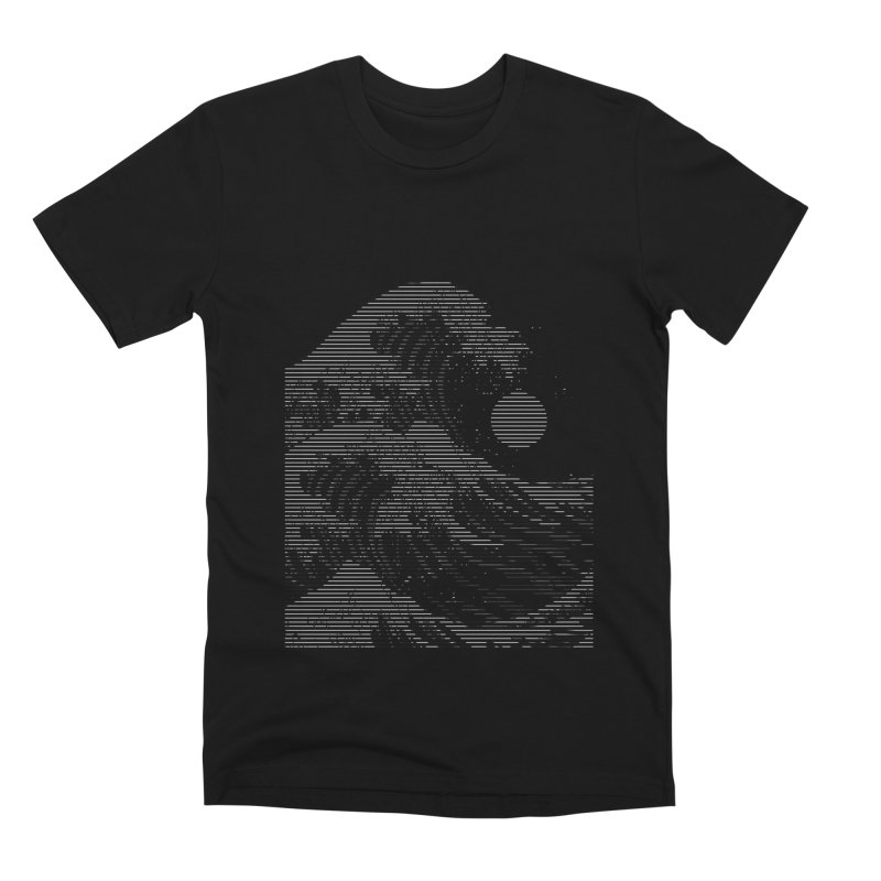 The Great Wave in Stripes Men's Premium T-Shirt by nicebleed