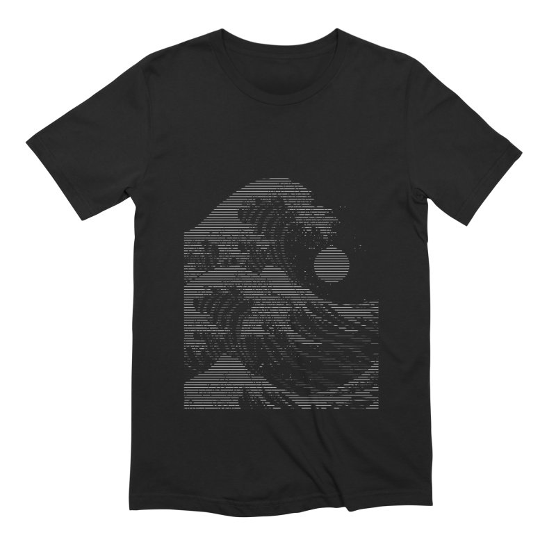 The Great Wave in Stripes Men's Extra Soft T-Shirt by nicebleed