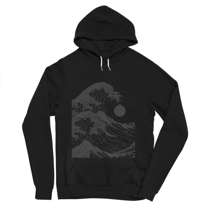 The Great Wave in Stripes Women's Sponge Fleece Pullover Hoody by nicebleed