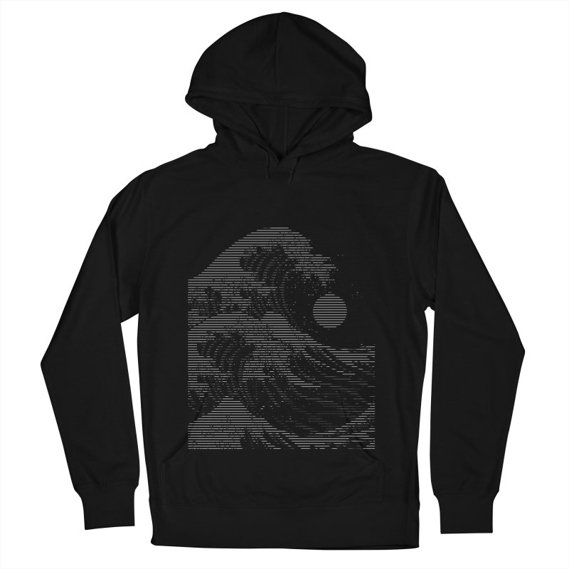 The Great Wave in Stripes Men's French Terry Pullover Hoody by nicebleed