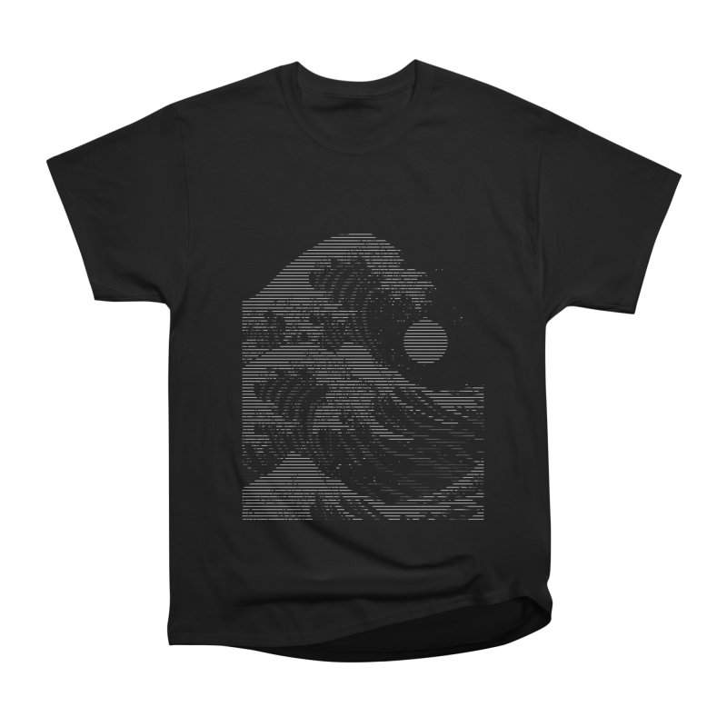 The Great Wave in Stripes Women's Heavyweight Unisex T-Shirt by nicebleed
