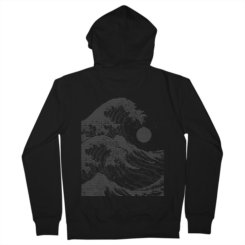 The Great Wave in Stripes Men's French Terry Zip-Up Hoody by nicebleed