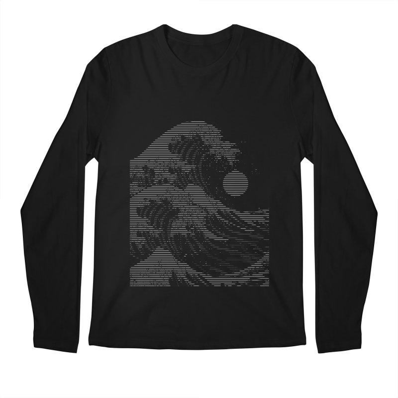 The Great Wave in Stripes Men's Regular Longsleeve T-Shirt by nicebleed
