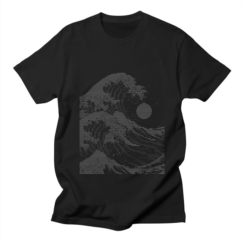 The Great Wave in Stripes Men's T-Shirt by nicebleed