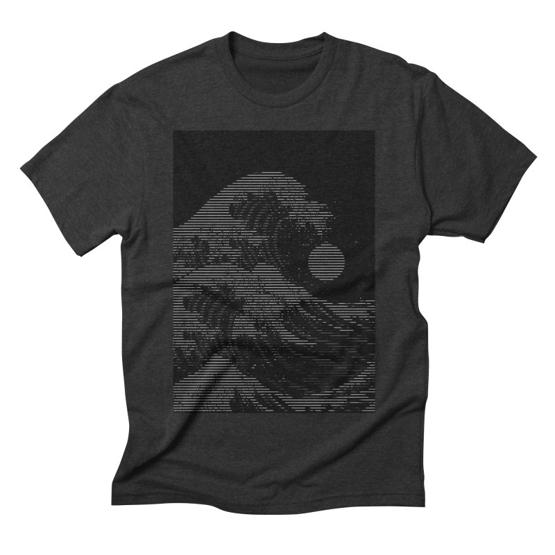 The Great Wave in Stripes Men's Triblend T-Shirt by nicebleed