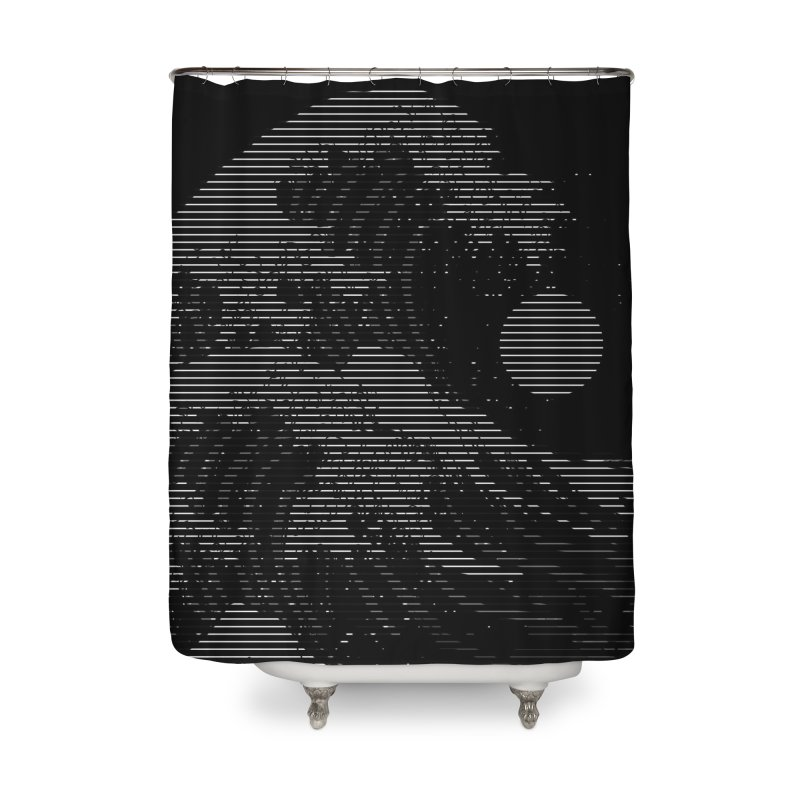The Great Wave in Stripes Home Shower Curtain by nicebleed