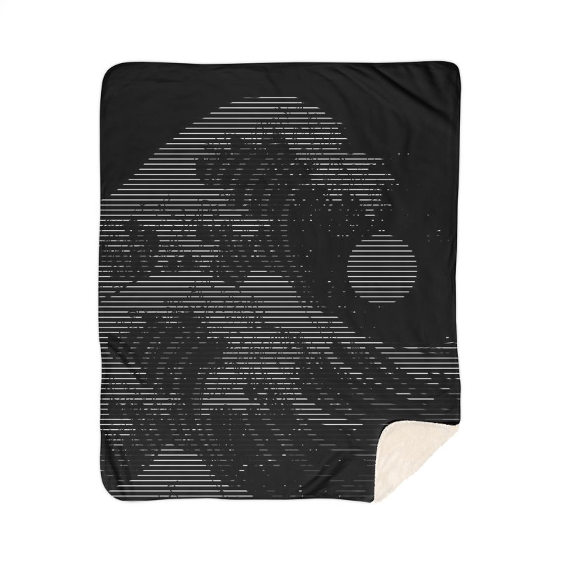 The Great Wave in Stripes Home Sherpa Blanket Blanket by nicebleed