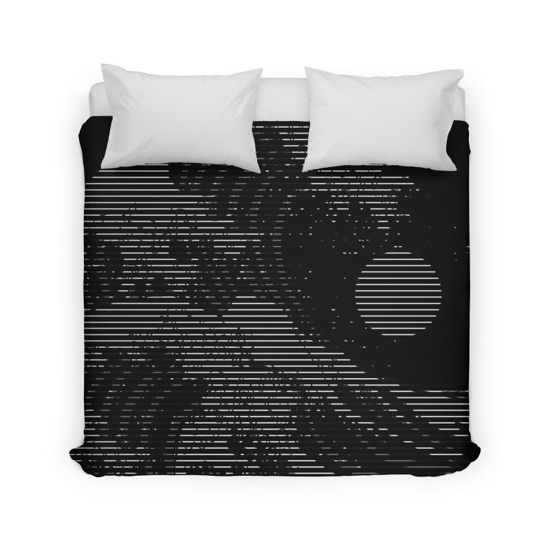 The Great Wave in Stripes Home Duvet by nicebleed