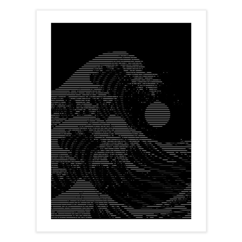 The Great Wave in Stripes Home Fine Art Print by nicebleed