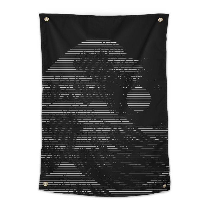 The Great Wave in Stripes Home Tapestry by nicebleed