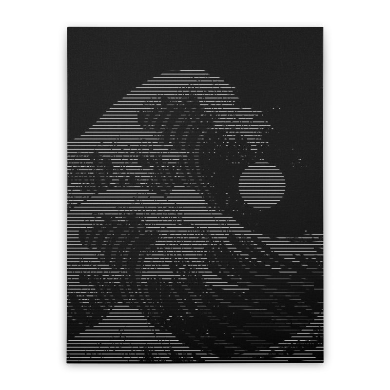 The Great Wave in Stripes Home Stretched Canvas by nicebleed