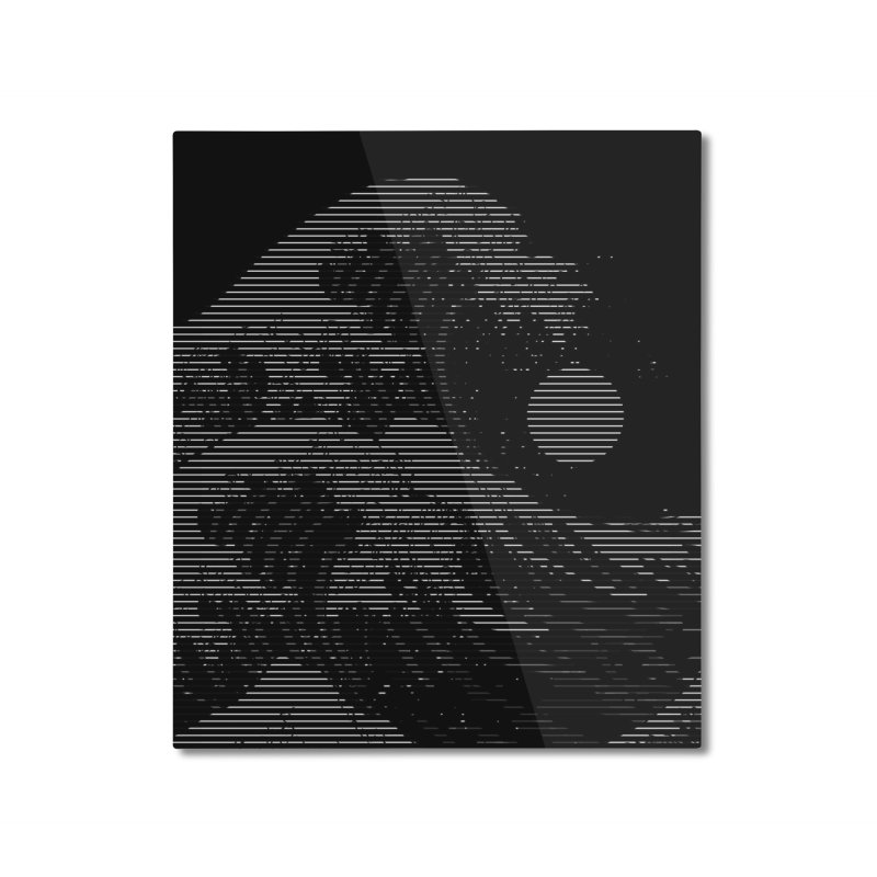 The Great Wave in Stripes Home Mounted Aluminum Print by nicebleed