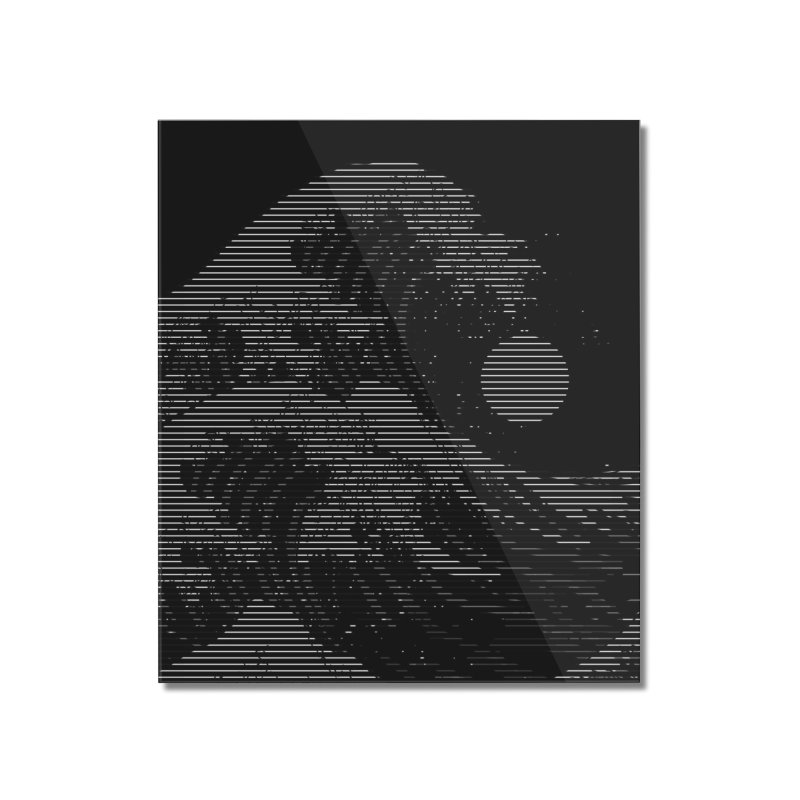 The Great Wave in Stripes Home Mounted Acrylic Print by nicebleed