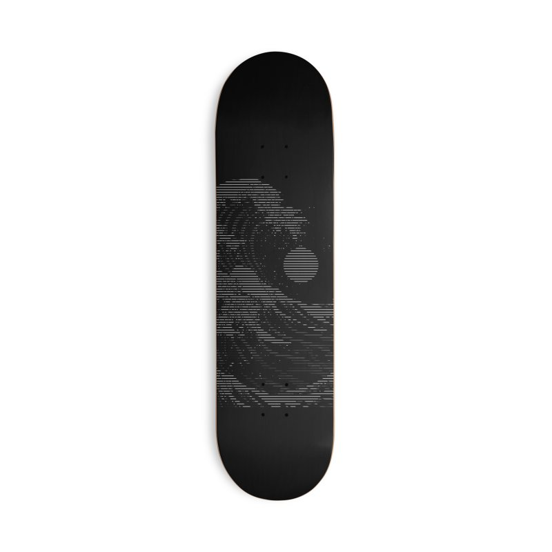 The Great Wave in Stripes Accessories Deck Only Skateboard by nicebleed