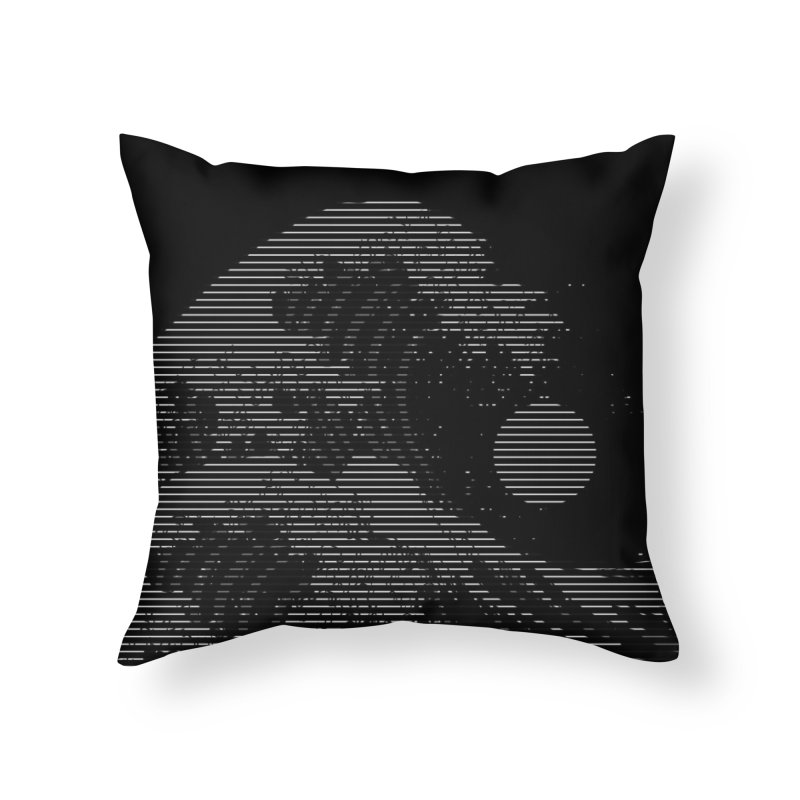 The Great Wave in Stripes Home Throw Pillow by nicebleed