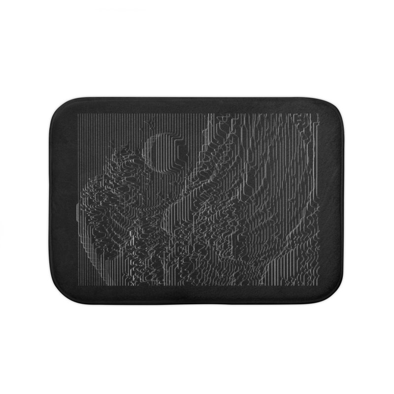 Unknown Pleasures: Great Wave Home Bath Mat by nicebleed