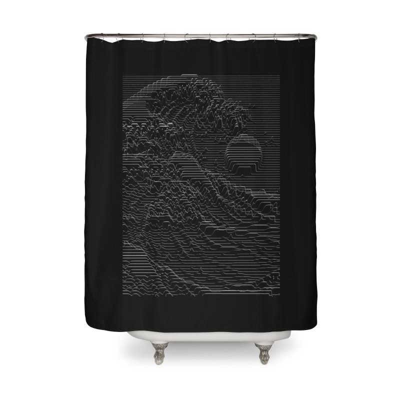 Unknown Pleasures: Great Wave Home Shower Curtain by nicebleed