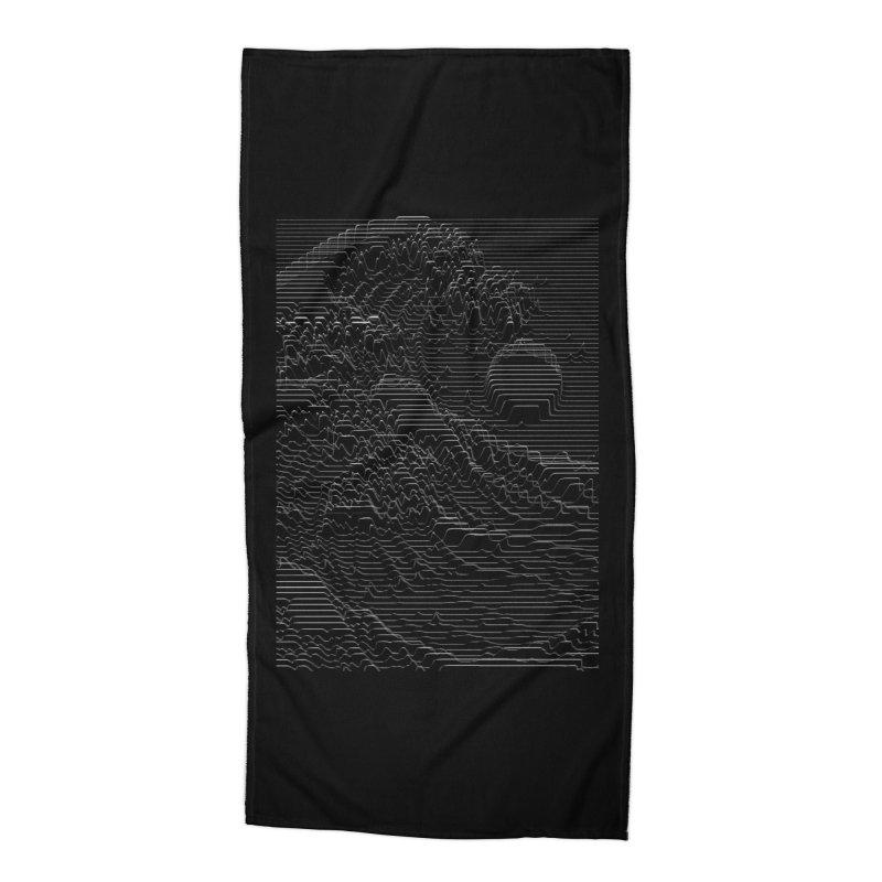 Unknown Pleasures: Great Wave Accessories Beach Towel by nicebleed