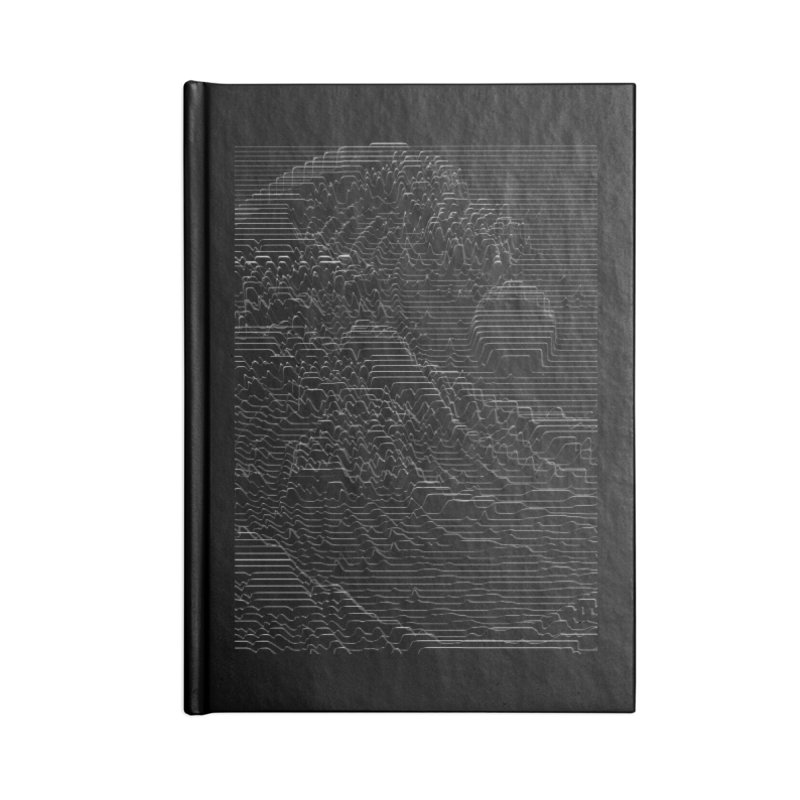 Unknown Pleasures: Great Wave Accessories Lined Journal Notebook by nicebleed