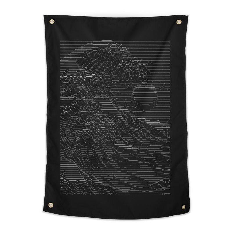 Unknown Pleasures: Great Wave Home Tapestry by nicebleed