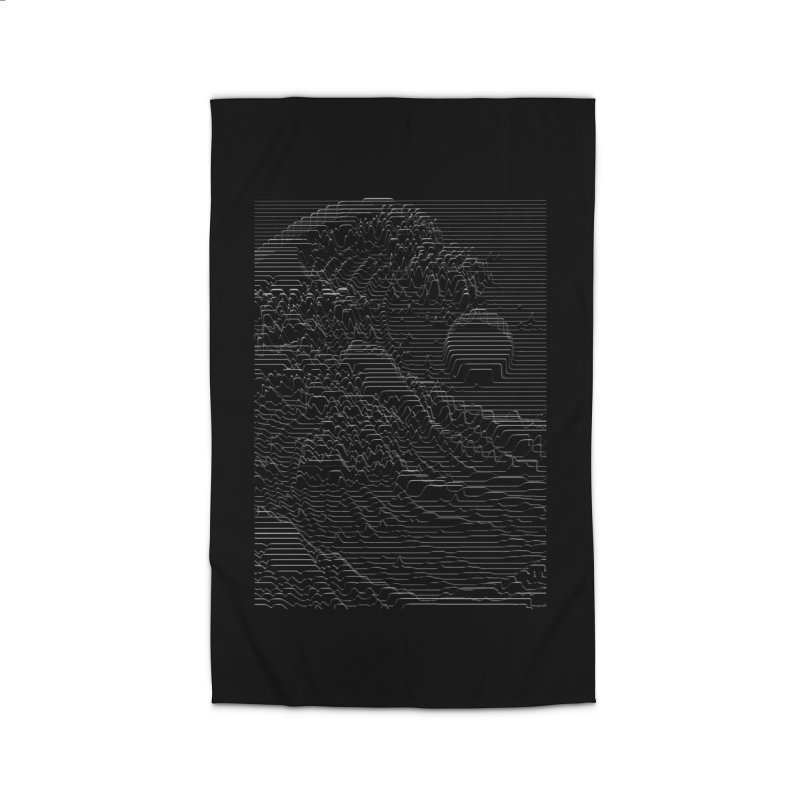 Unknown Pleasures: Great Wave Home Rug by nicebleed