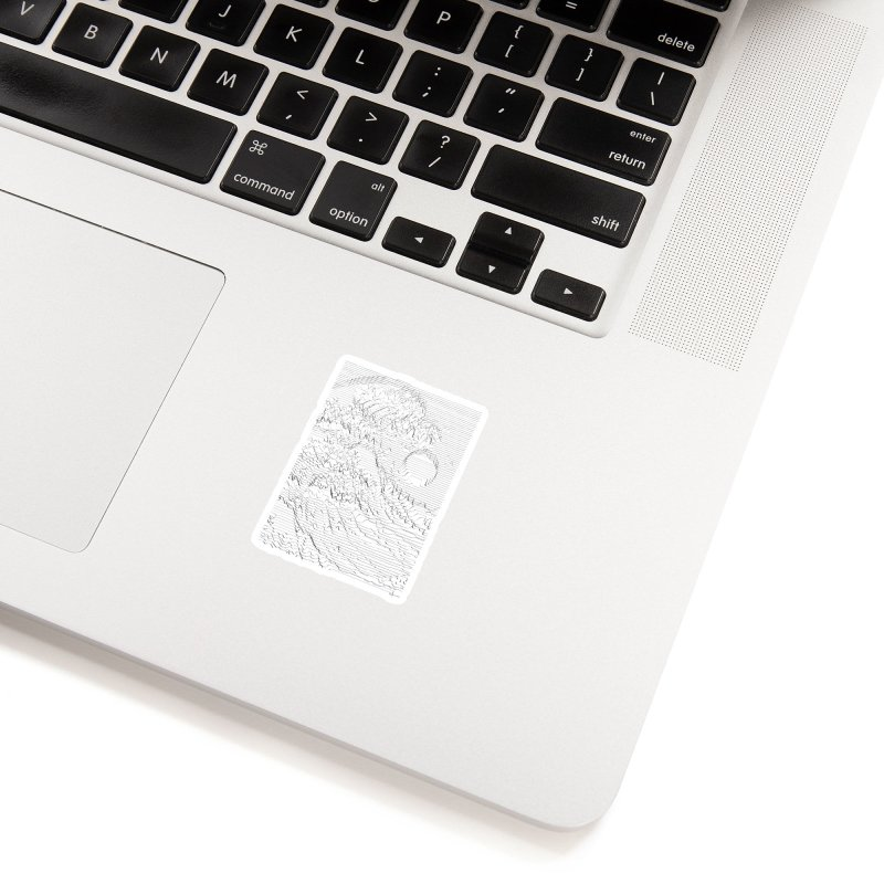 Unknown Pleasures: Great Wave Accessories Sticker by nicebleed