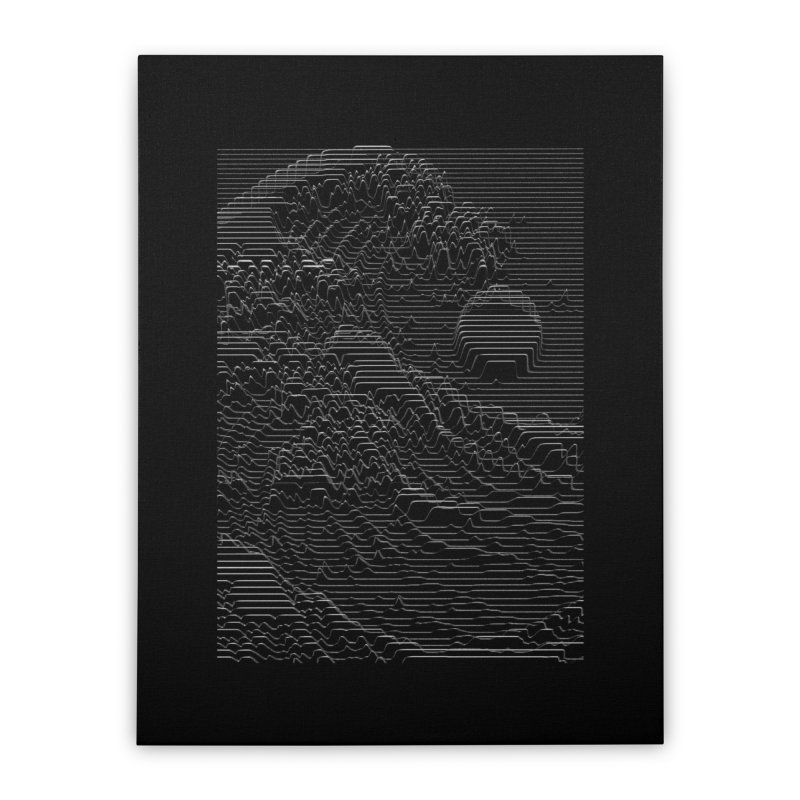 Unknown Pleasures: Great Wave Home Stretched Canvas by nicebleed