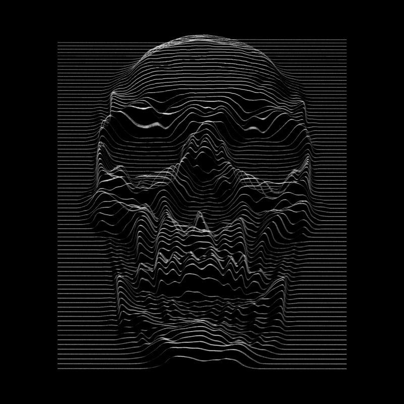 Unknown Pleasures: Skull Men's Longsleeve T-Shirt by nicebleed