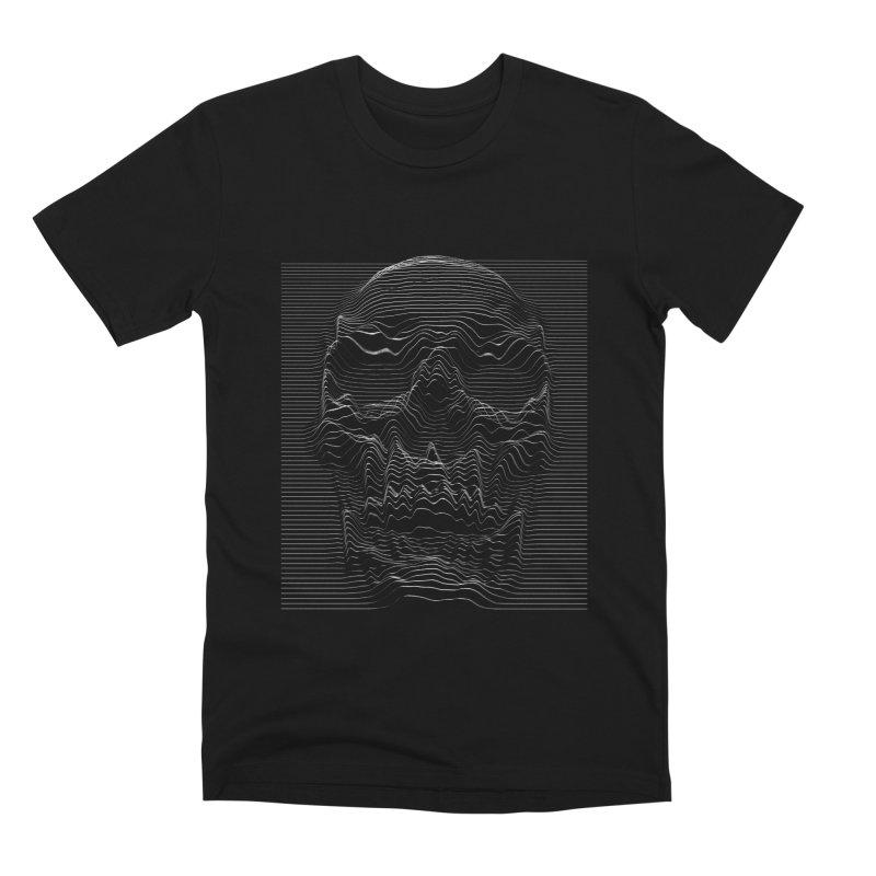 Unknown Pleasures: Skull Men's Premium T-Shirt by nicebleed