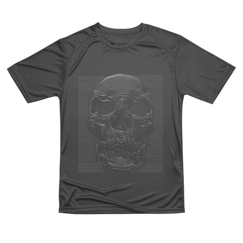 Unknown Pleasures: Skull Women's Performance Unisex T-Shirt by nicebleed