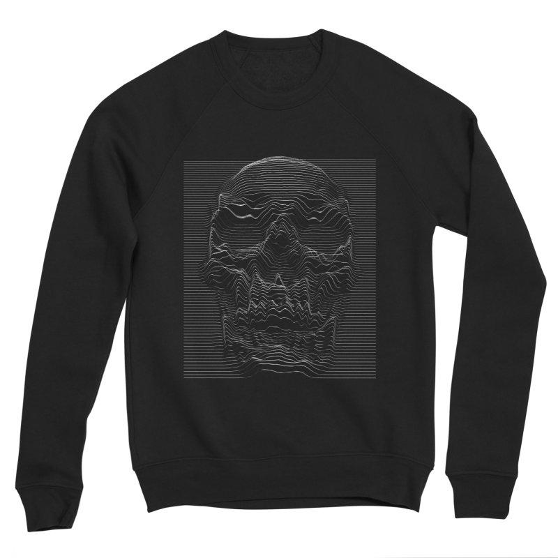Unknown Pleasures: Skull Men's Sponge Fleece Sweatshirt by nicebleed