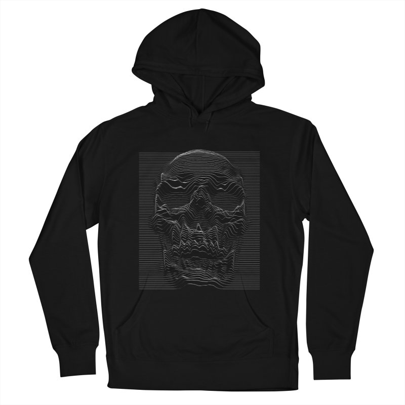 Unknown Pleasures: Skull Men's French Terry Pullover Hoody by nicebleed