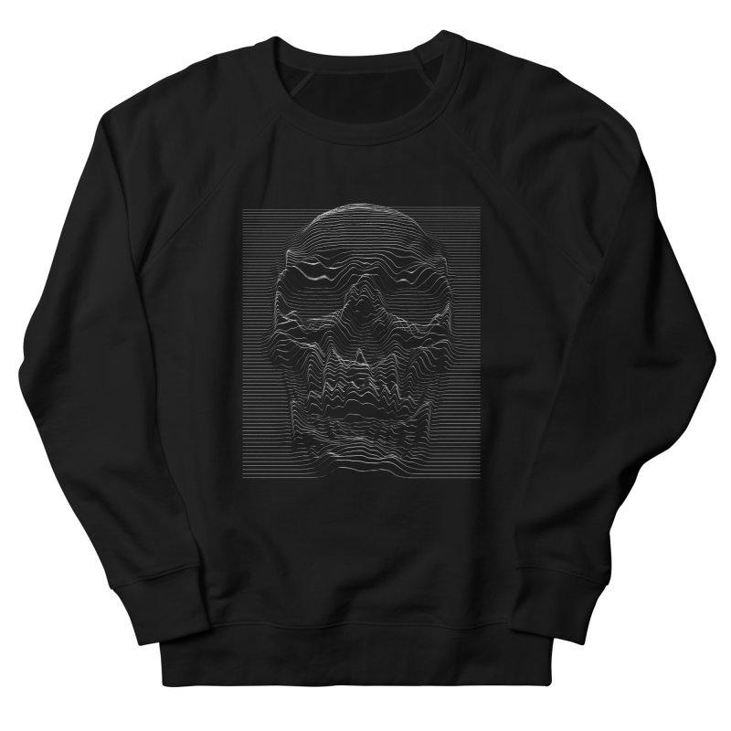 Unknown Pleasures: Skull Men's French Terry Sweatshirt by nicebleed