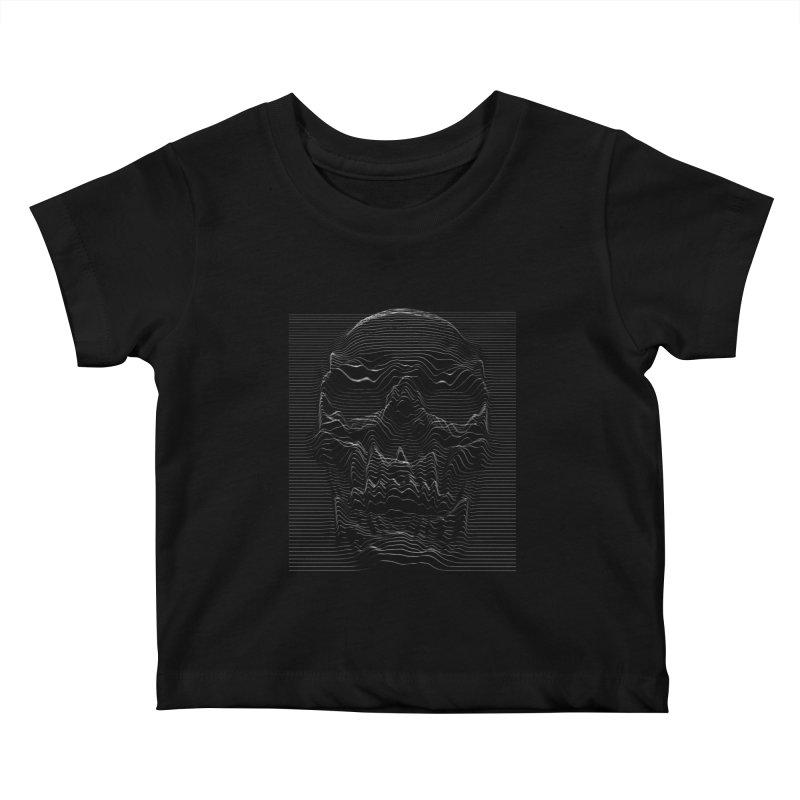 Unknown Pleasures: Skull Kids Baby T-Shirt by nicebleed