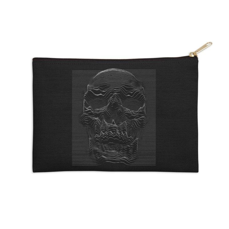 Unknown Pleasures: Skull Accessories Zip Pouch by nicebleed