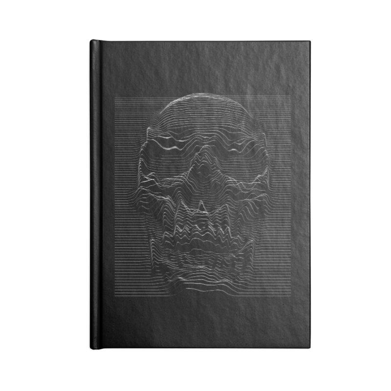 Unknown Pleasures: Skull Accessories Lined Journal Notebook by nicebleed