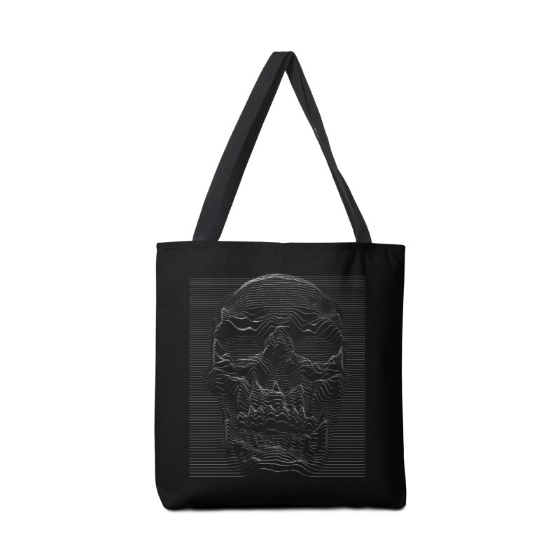 Unknown Pleasures: Skull Accessories Tote Bag Bag by nicebleed