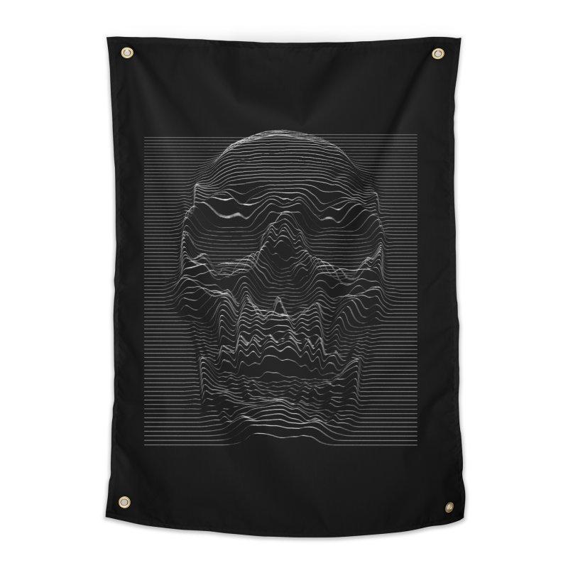 Unknown Pleasures: Skull Home Tapestry by nicebleed