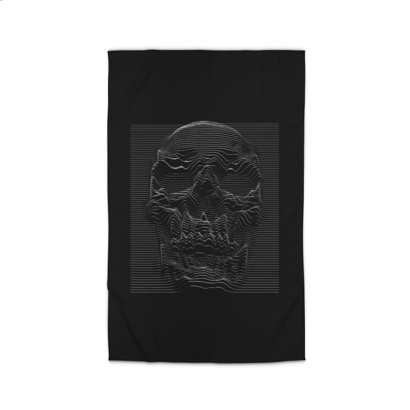 Unknown Pleasures: Skull Home Rug by nicebleed