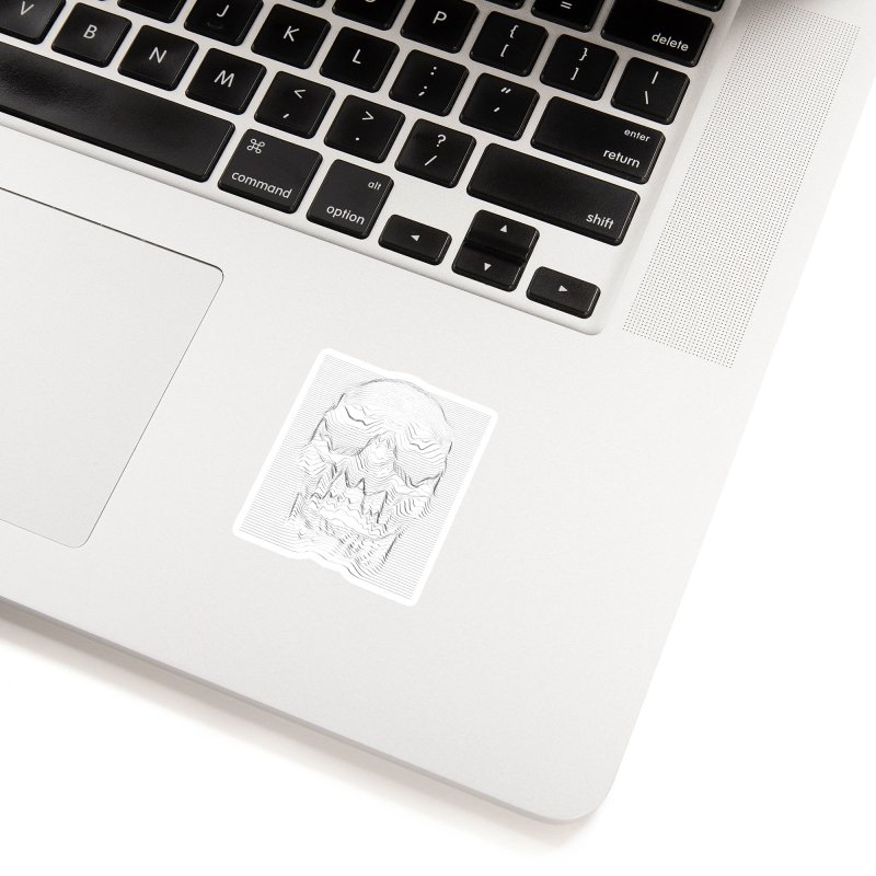 Unknown Pleasures: Skull Accessories Sticker by nicebleed