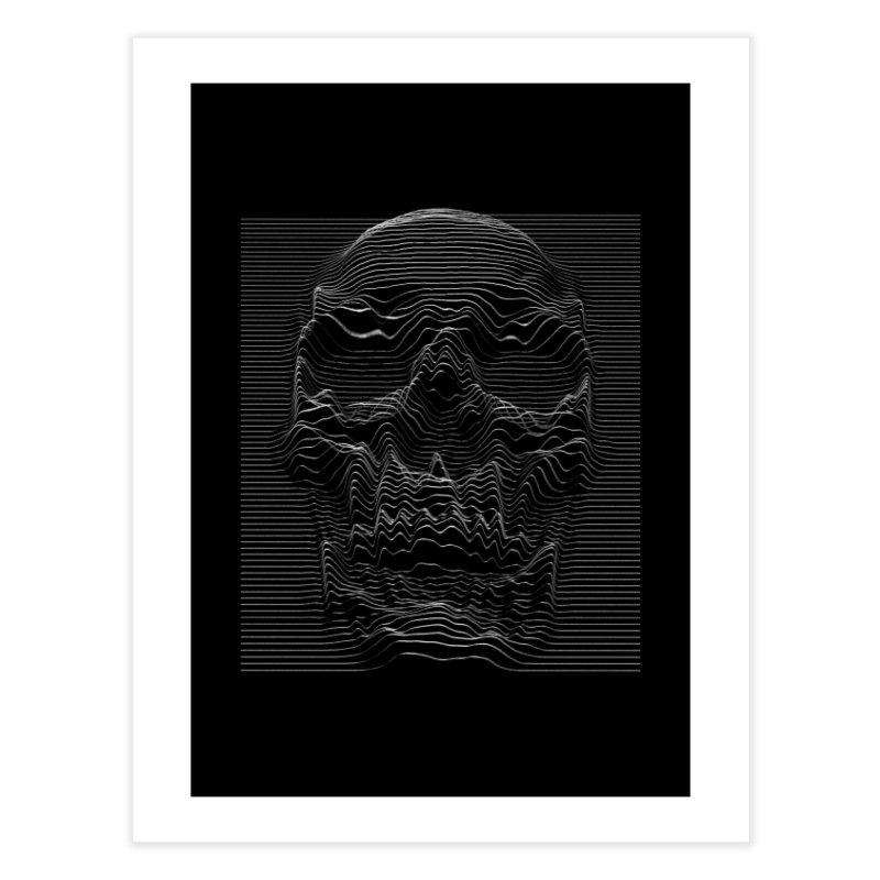 Unknown Pleasures: Skull Home Fine Art Print by nicebleed