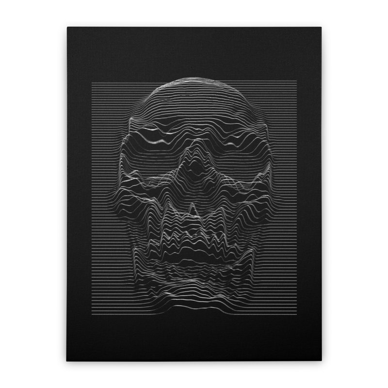 Unknown Pleasures: Skull Home Stretched Canvas by nicebleed