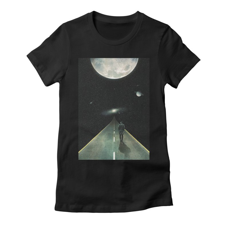 Road To Unknown Women's Fitted T-Shirt by nicebleed