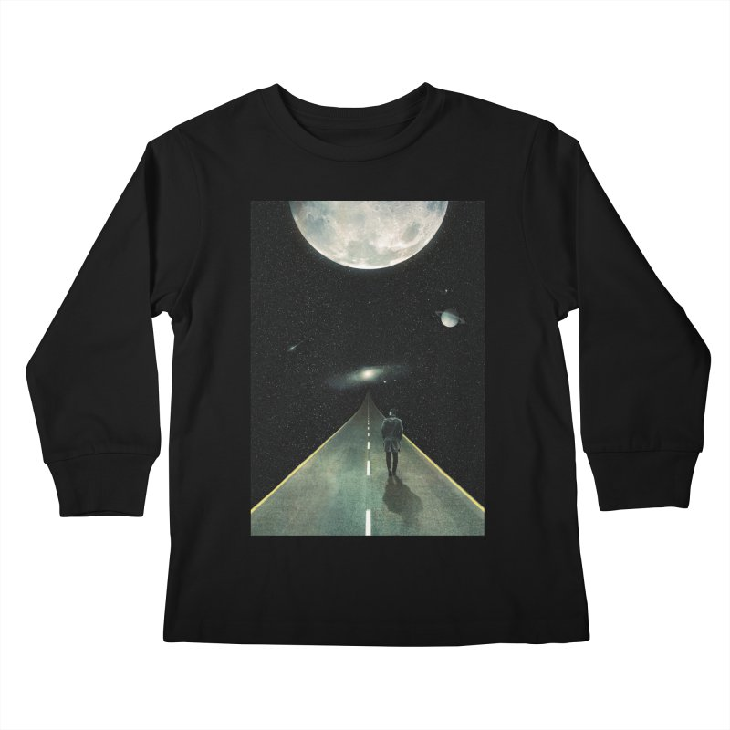 Road To Unknown Kids Longsleeve T-Shirt by nicebleed