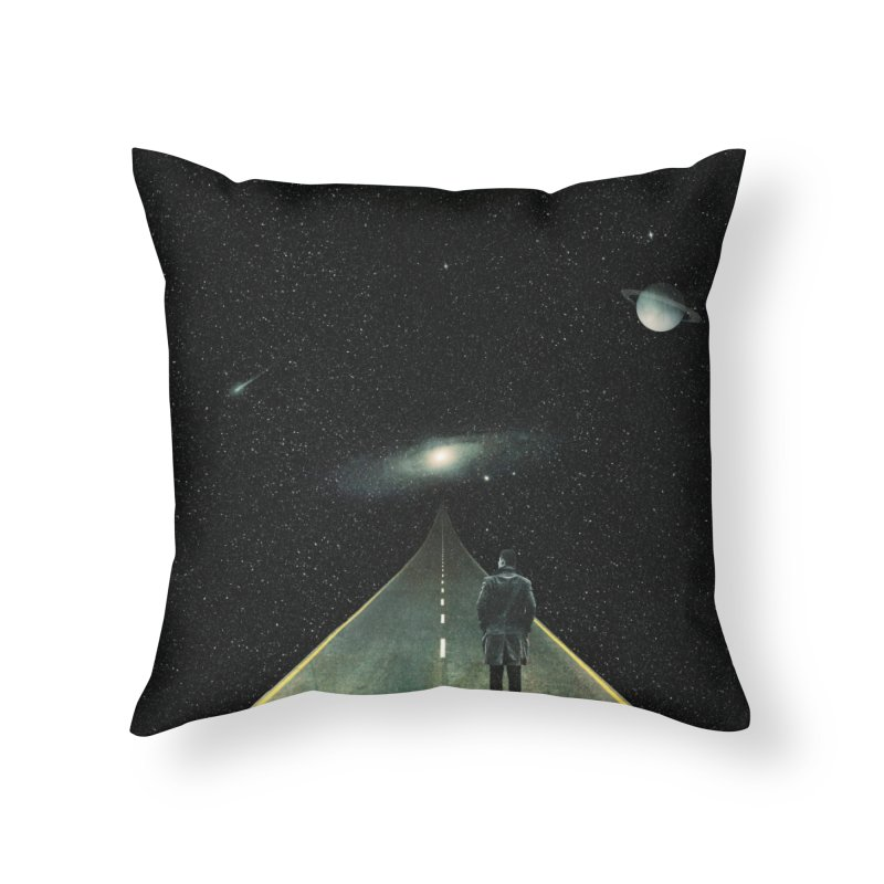 Road To Unknown Home Throw Pillow by nicebleed