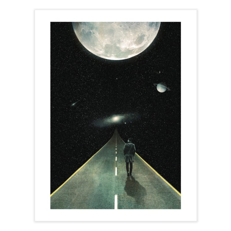 Road To Unknown Home Fine Art Print by nicebleed