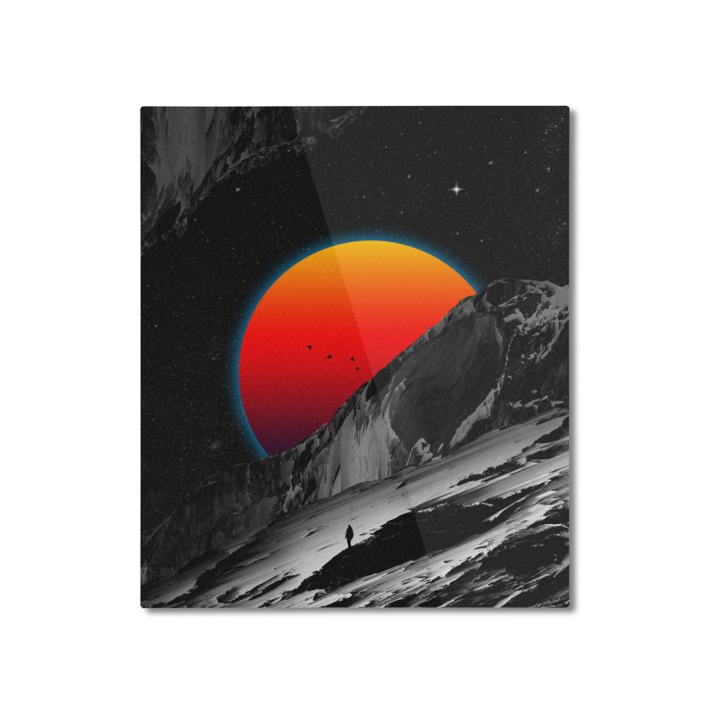 Slope Home Mounted Aluminum Print by nicebleed