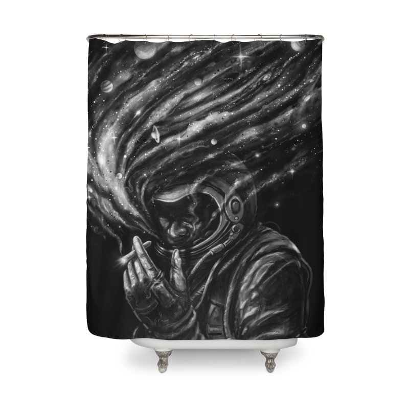 Space Joint Home Shower Curtain by nicebleed